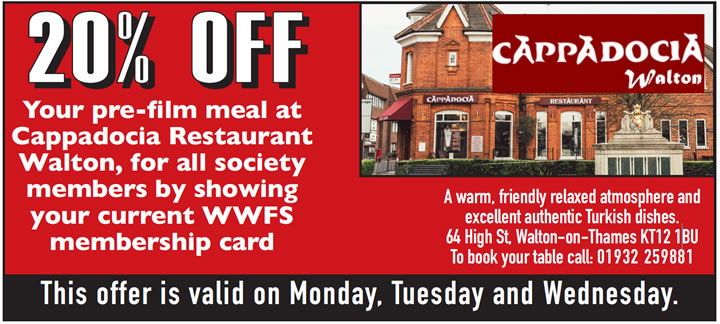 Offer for members at Cappadoca restaurant Walton on Thames